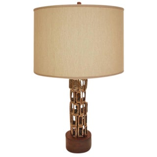 Bronze Sculptural Table Lamp For Sale