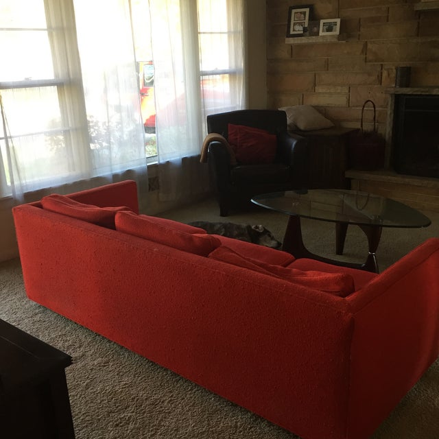 Mid-Century Red Sofa - Image 5 of 5