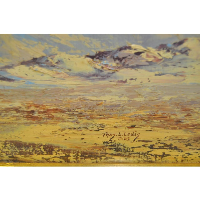 Thomas L. Lewis Taos New Mexico Landscape Painting - Image 5 of 6