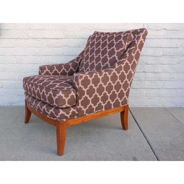 Kravet Furniture Upholstered Lounge Chairs With Wood Frame - A Pair - Image 4 of 7