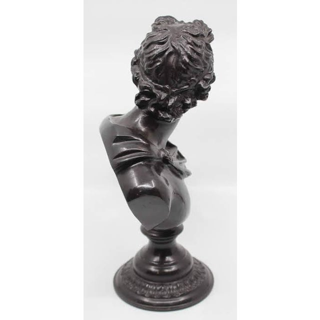 Maitland - Smith Maitland-Smith Bronze Roman Male Bust Sculpture For Sale - Image 4 of 13