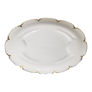 Mid-20th Century French Country Haviland Limoge White Porcelain Platter