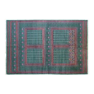 """Peshawar Bokhara """"Jaalen"""" Wool Rug - 5' x 8'"""