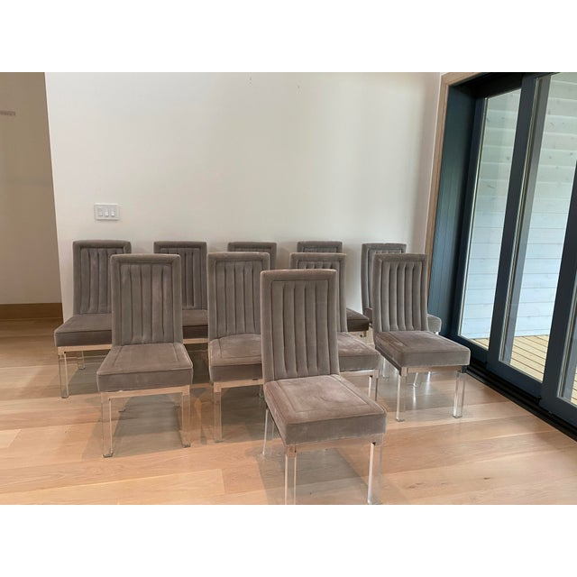 Dove Gray Mid 20th Century Dining Chairs Attributed to Charles Hollis-Jones - Set of 10 For Sale - Image 8 of 11