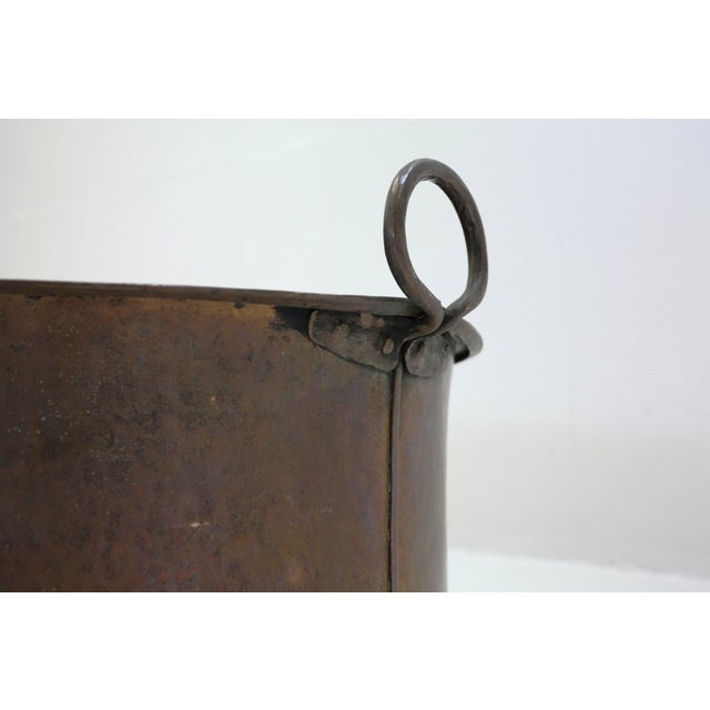 Danish Large Antique Copper Pot From 1960 - Image 4 of 7