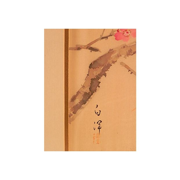 Cherry Blossom Painting on Silk For Sale - Image 4 of 4