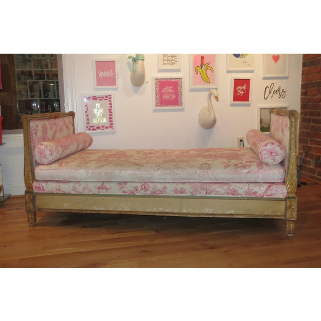 Boho Chic Antique Daybed/Fainting Sofa For Sale - Image 3 of 11
