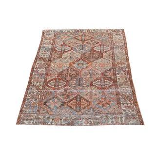 Antique Persian Distressed Bakhtiari Rug - 6′7″ × 10′ For Sale
