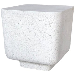 Cast Resin 'Block' Side Table, Natural Stone Finish by Zachary A. Design For Sale