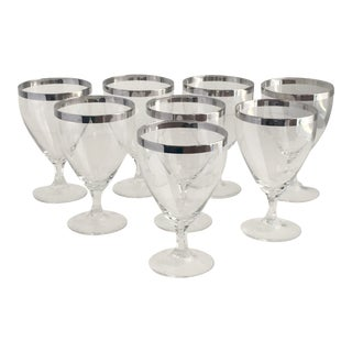 "Fostoria ""Wedding Ring"" Crystal Wine Glasses - Set of 8 For Sale"