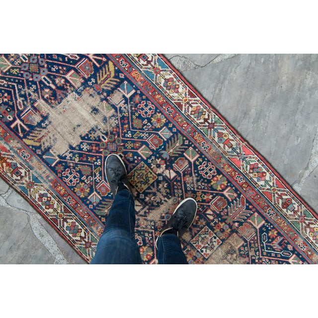 Textile House of Séance - 20th Century Antique Caucasian Handwoven Rug - 3′1″ × 10′10″ For Sale - Image 7 of 11
