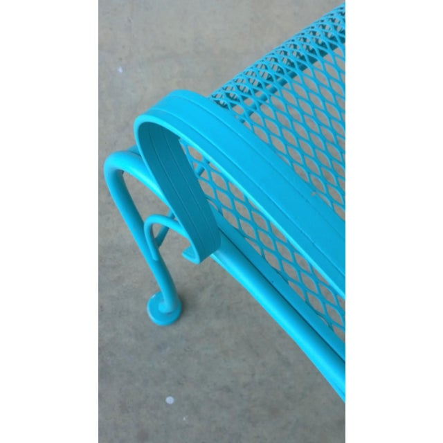 Turquoise Mid-Century Modern Russell Woodard Blue Canopy Patio Chair For Sale - Image 8 of 10