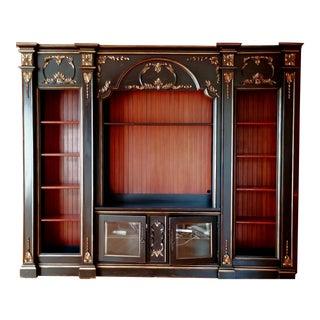 Custom Habersham Influenced Library Shelving Unit For Sale
