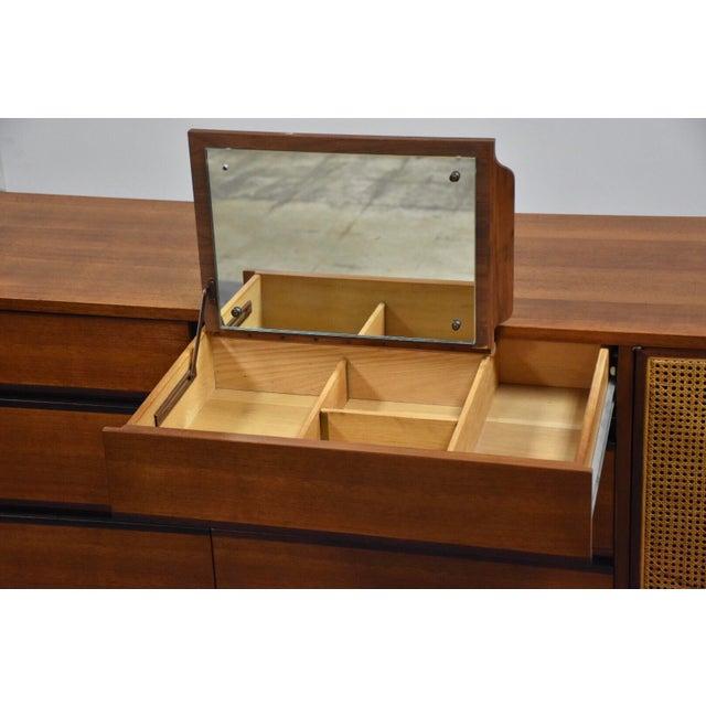 Mid-Century Modern Kipp Stewart for Calvin Walnut Dresser Vanity For Sale - Image 3 of 12