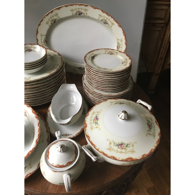 Antique Rare Hinode (Noritake ), Year 1876 Hand Painted China/48 Pieces, Dinnerware. Final Reduction For Sale - Image 12 of 13