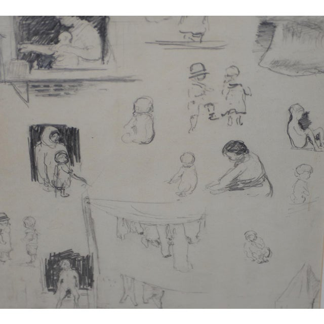 "Drawing/Sketching Materials Eugene Higgins (1874-1958) ""Family Life"" Sketches C.1920's For Sale - Image 7 of 11"