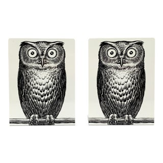 Fornasetti Owl Bookends - a Pair For Sale
