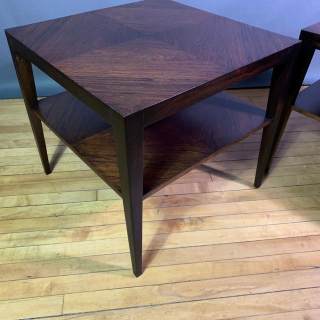 Rosewood Pair Isaac Teperman Brazilian Rosewood Side Tables, 1950s For Sale - Image 7 of 11
