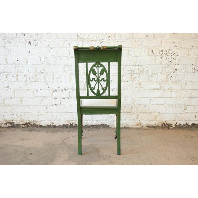 Antique Italian Hand-Carved & Painted Cherub Accent Chair For Sale In South Bend - Image 6 of 9