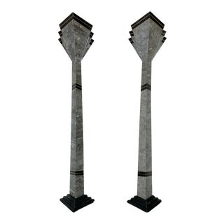 Postmodern Torchiere Lamps by Casa Bique - a Pair For Sale