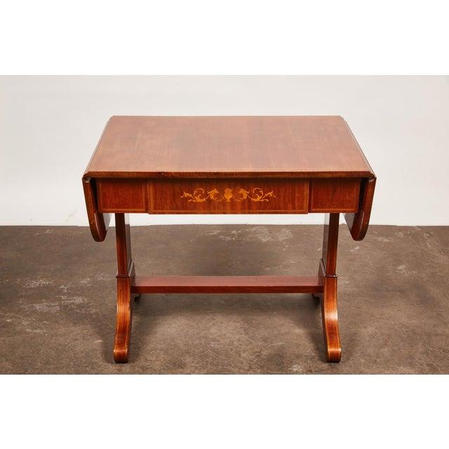 19th Century Danish Empire Mahogany Salon Table For Sale - Image 10 of 11