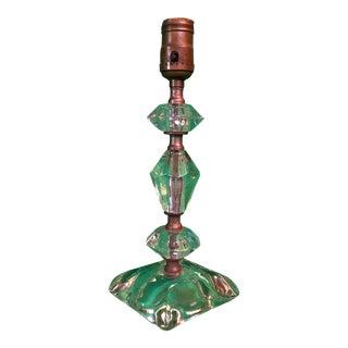 Vintage Small Glass Boudoir Lamp