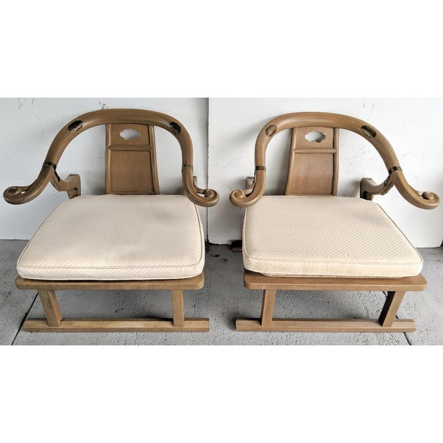 """Baker Furniture, Michael Taylor - Oriental Lounge Chairs, """"Far East Collection"""", 1960's / a Pair For Sale - Image 13 of 13"""