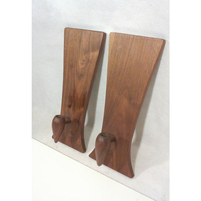 Baughman-Style Walnut Wall Sconces - A Pair - Image 5 of 6