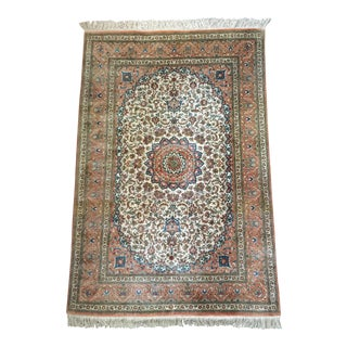 "Persian Silk Qum Rug - 3'4"" x 4'10"""