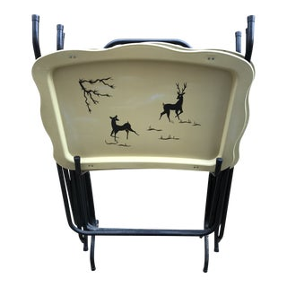 1950s Americana Tv Trays - Set of 4 For Sale