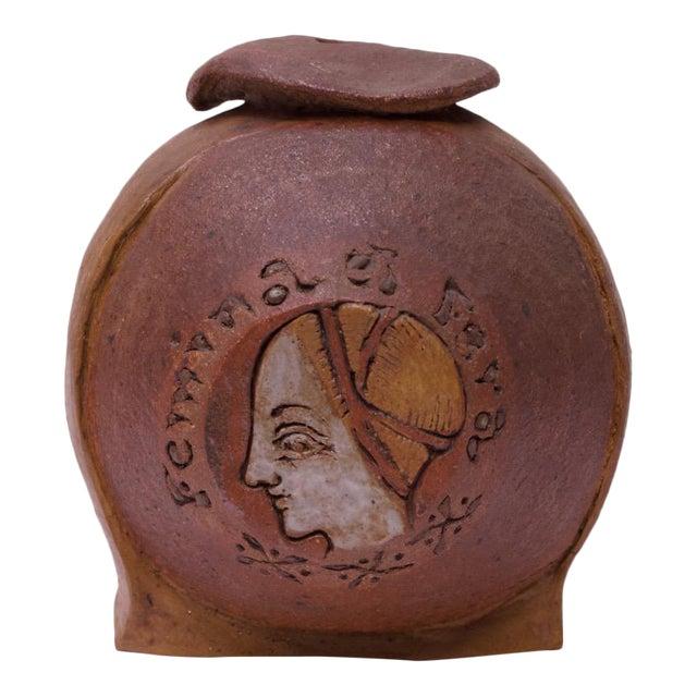 """Femina El Fera"" Figural Studio Stoneware Vase / Candleholder Signed Polk For Sale"