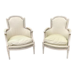 Period Directoire Bergeres- a Pair For Sale