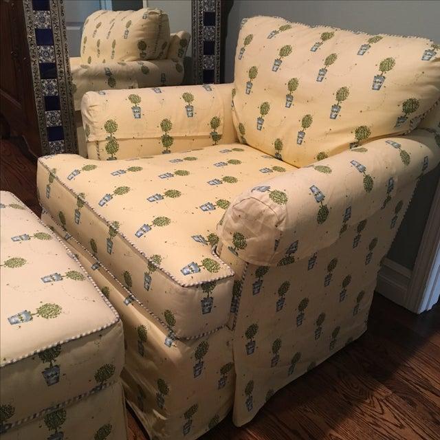 Miles Talbott Chair & Ottoman - Image 4 of 5