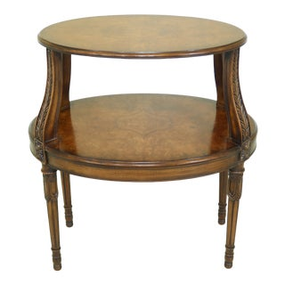Henredon French Louis XVI Style Walnut Tier Table For Sale