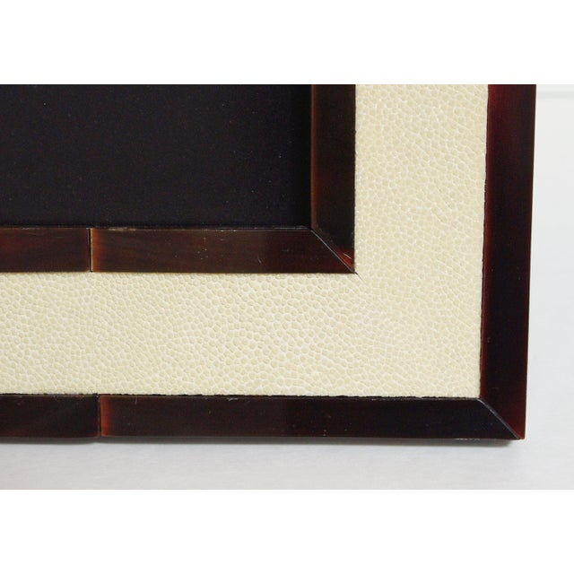 Animal Skin Ivory Shagreen and Brown Horn Photo Frame by Fabio Ltd For Sale - Image 7 of 8