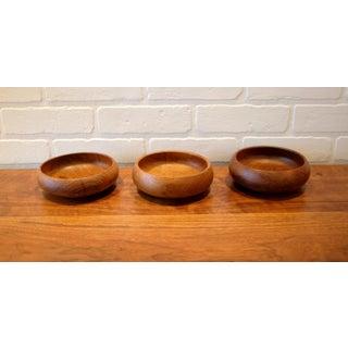Vintage Hand Turned Wood Bowls - Set of 3 Preview