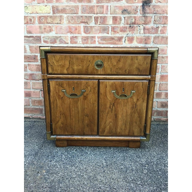 Drexel Heritage Campaign Nightstands - A Pair - Image 3 of 4