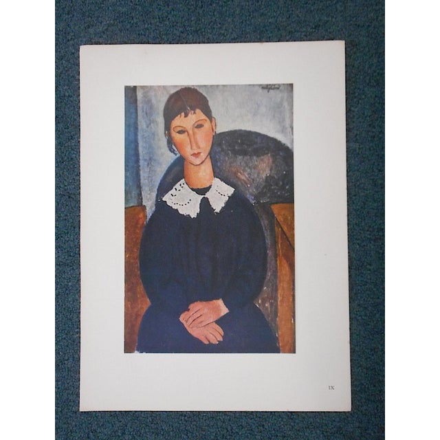 This iconic modernist image by the world famous artist Amadeo Modigliani (Italy/France 1884-1920) is a lithograph (offset)...