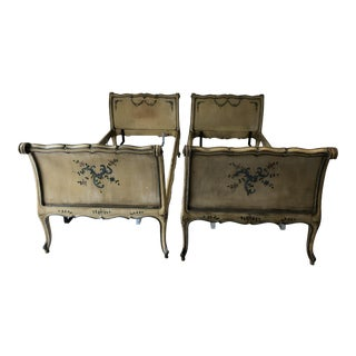Antique French Provincial Daybed Pair (2) or Twins For Sale