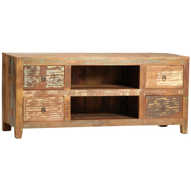Reclaimed Wood Media Cabinet - Image 2 of 2