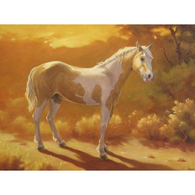"""Ute Simon """"Sunset Over Moon"""" Horse Painting - Image 3 of 6"""