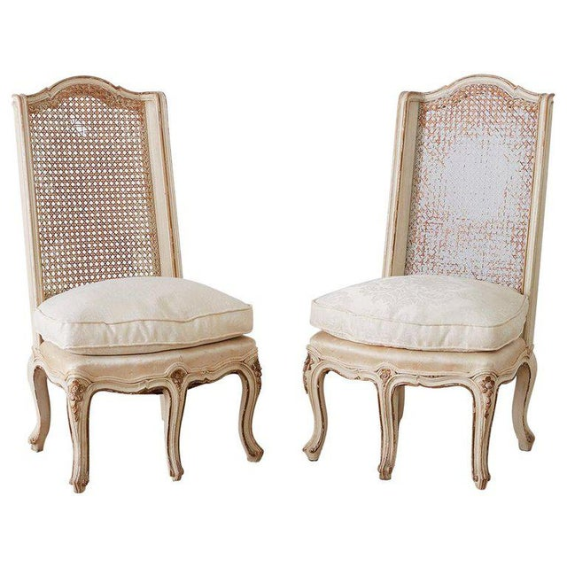 Pair of French Provincial Five-Leg Slipper Chairs For Sale - Image 13 of 13