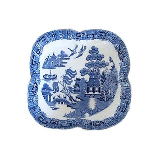 Antique Wedgwood Willow Pattern Serving Dish / Bowl For Sale