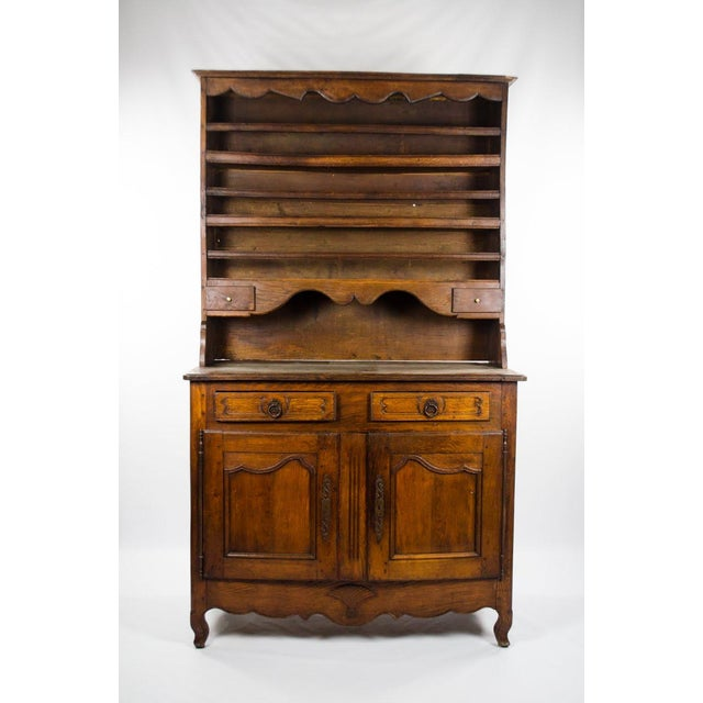 20th Century French Country Walnut Kitchen Hutch For Sale - Image 13 of 13