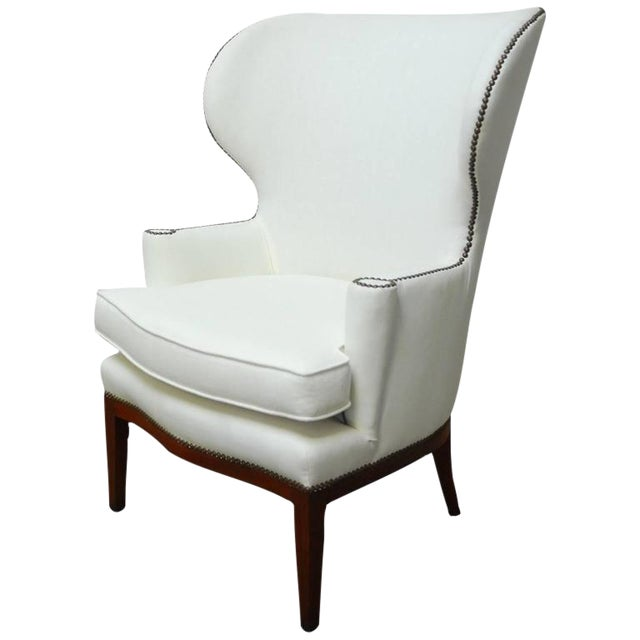Edward Wormley for Dunbar Mid-Century Wing Chair For Sale