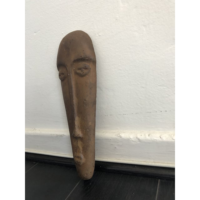 Primitive Primitive Face Sculptural Wall Object For Sale - Image 3 of 8