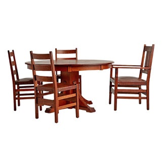 Five Piece Dining Set by Stickley Circa 1910s