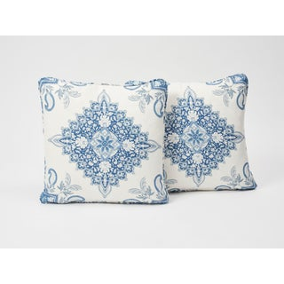 Schumacher Double-Sided Pillow in Montecito Medallion Linen Print Preview