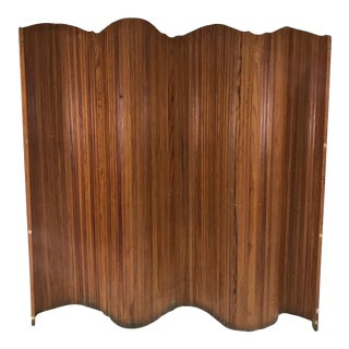Early 20th Century Vintage Classic French Accordion Privacy Screen For Sale