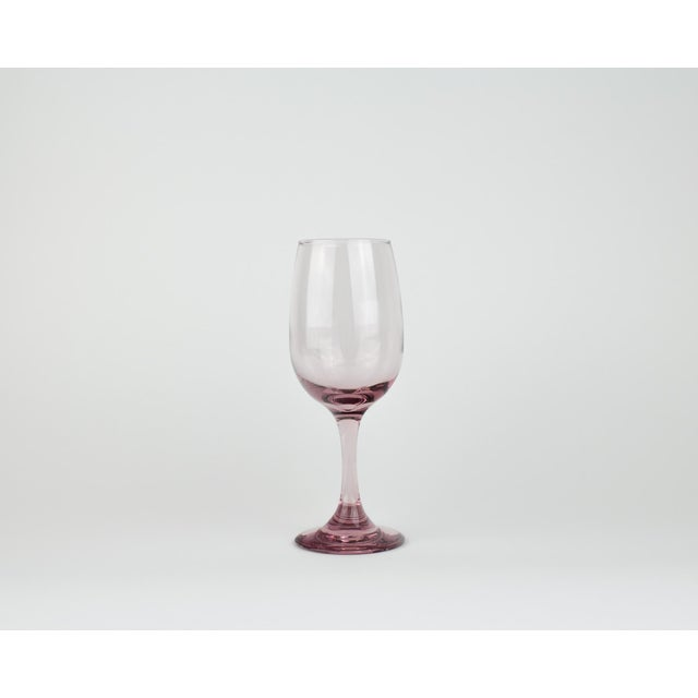 Light Pink Wine Glasses - Set of 5 For Sale In New York - Image 6 of 8